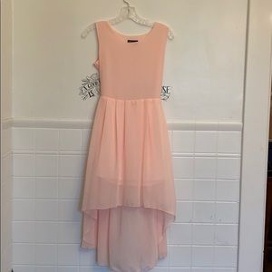 Blush pink peach  high low dress